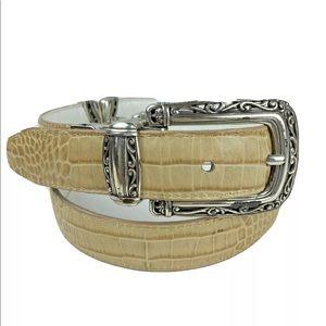 VINTAGE Brighton Leather  Belt Reversible M/30